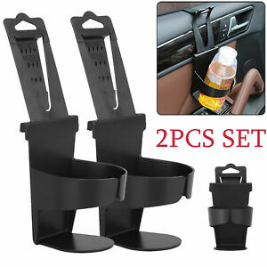 2x Vehicle Car Truck Cup Holder Case Drink Bottle Door Mount Standing Universal