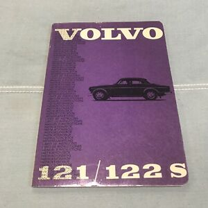 Rare Near Perfect Mint Owners Manual Instruction Book Volvo 122s 122 Amazon