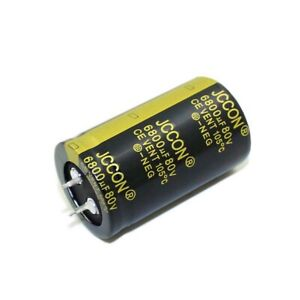 6800uf 80v Amplifier Audio Power Filter Electrolytic Capacitors 105 c 30x50mm