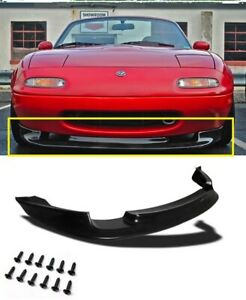 Fits 90 97 Mazda Miata Gv Pu Black Add On Front Bumper Lip Spoiler Chin