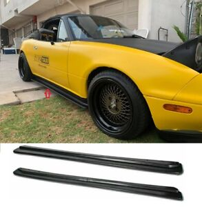 Fit For 90 97 Mazda Miata Na Mx5 Fd Style Pp Side Skirts Extension Lip Splitter