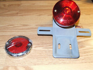 Vintage Car Tail Light Hot Rat Street Rod Red Motorcycle Automobile Lamp