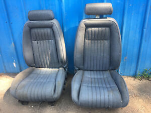 87 93 Mustang Front Seats Opal Grey Gt Tweed Foxbody Awesome 5 0 1987 1993 Oem 2