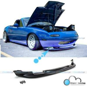 For 90 97 Miata Mx5 2dr Gv Style Pu Front Spoiler Bumper Chin Lip Ground Effect