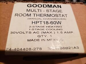 New Goodman Hpt18 60w Heat Pump Thermostat Multi stage Manual Changeover