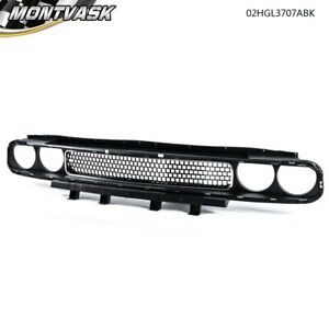 Black Chrome Front Bumper Grill Grille Mesh Guard For 08 14 Dodge Challenger