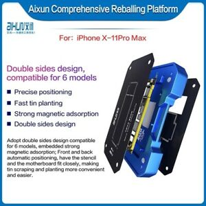 Jc Aixun Fixture For Iphone X 11pro Max Middle Layer Motherboard Reballing Kit