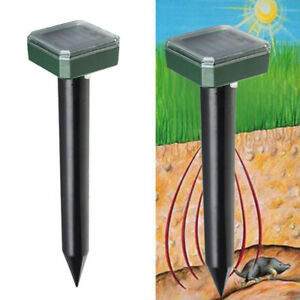 Ultrasonic Solar Powered Sonic Deterrent Groundhog Repeller Snake Rodent M3r9