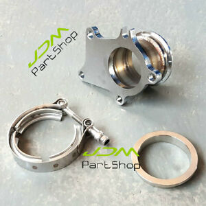 For T25 T28 Gt25 Turbo Housings Downpipe 5 Bolt To 2 5 V Band Flange Adapter