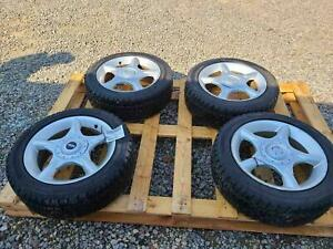 02 09 Mini Cooper 16 Inch 5 Spoke Aluminum Alloy Used Oem Wheel Tire Set Of 4