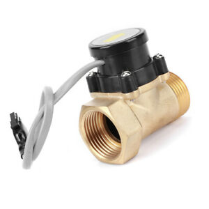 Water Pump Flow Sensor Brass Automatic Control G1in Ht 30 1 1 Ac110v 0 2a