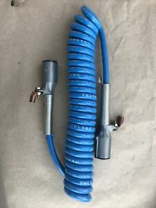 12 Trailer Tail Gate Lift Coiled Power Cable 2 Gauge Blue Velvac 590135