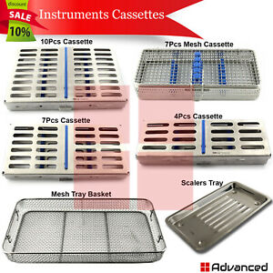 Range Of Dental Cassettes For Holding Instruments Autoclave Sterilization Tray