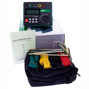 Ground Resistance Tester 4 terminal Earth Resistance Meter 0 To 209 9k