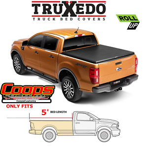 Truxedo Soft Roll Up Tonneau Bed Cover Fits 2019 2021 Ford Ranger 5ft Bed
