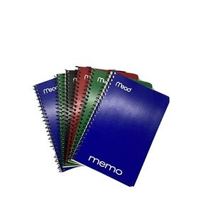 Lot Of 6 Mead Memo Books College Ruled 6 X 4 Wirebound 40 Sheets Assorted