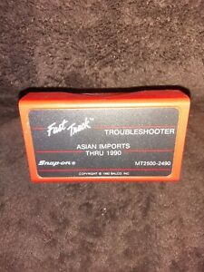 Snap On Scanner Mt2500 2490 Fast Track Troubleshooter Cartridges Asian Imports