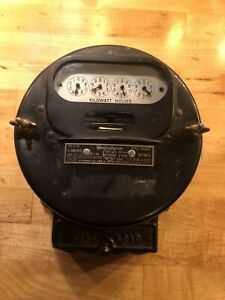 Westinghouse Electric Co Type Oa Watt Hour Meter 100v 2 Wire 60 Cycle Circa 1918
