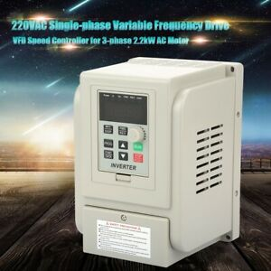 2 2kw 3hp 220v Variable Frequency Drive Inverter Cnc Vfd Vsd Single To 3 Phase