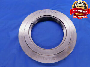 2 11 1 2 Npt L1 Pipe Thread Ring Gage 2 0 2 11 1 2 Inspection Tool N p t