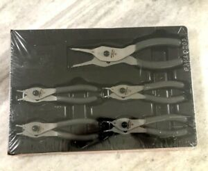 New Snap On Dark Titanium 5 Pc Retaining Ring Pliers Set Srpcr105addt