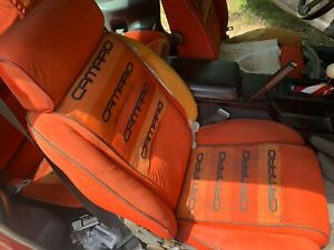 83 85 Camaro Z28 Bucket Front Rear Seats Lear Siegler Conteur Ls C Orange Char