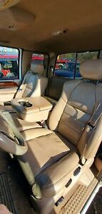 2004 Ford F350 Lariat Front Tan Leather Seats Driver Passenger Center