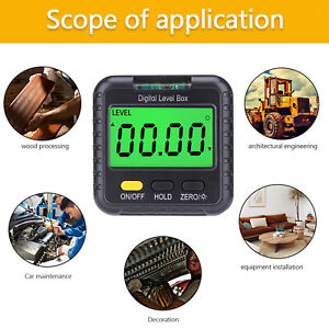 Digital Angle Meter Inclinometer Backlight Display For Bevel Table Saw Miter Saw