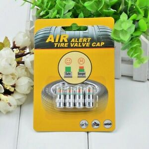 4 Pcs Car Auto Tire Valve Cap Air Pressure Monitoring Indicator Sensor Eye Alert