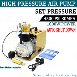 Autoshut 30mpa Air Compressor High Pressure Pump Kit 110v Electric Pcp 1 8kw us