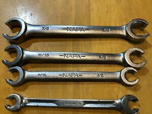 Used Set Of 4 Mixed Lot Napa Sae Line Flare Nut Wrenches
