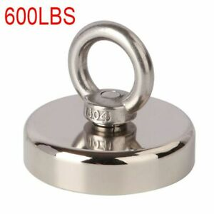 Fishing Magnet 600 Lbs Pull Force Heavy Duty Strong Neodymium Magnet