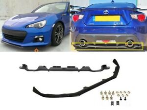 Fits 12 16 Subaru Brz St Style Front Bumper Lip Oe Style Rear Diffuser