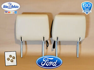 2006 2010 Oem Ford Explorer Rear 2nd Row Headrest Set Tan Leather Very Clean