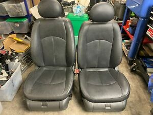 2003 2006 Mercedes E320 E350 E500 W211 Front Black Leather Heated Cooled Seats