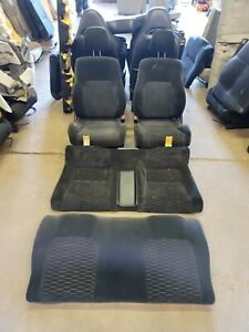 1997 To 2001 Honda Prelude Front And Rear Full Set Cloth Seats Buckets