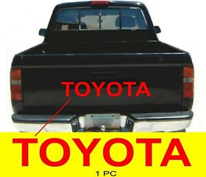 Toyota Red Tailgate 31 Decal Vinyl Replacement Letters Stickers Truck Bed