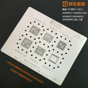 10pcs Amaoe Bga Reballing Stencil Kit For Mtk Qualcomm Cpu For Xiaomi Huawei Set