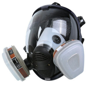 15in 1 Facepiece Respirator Gas Mask Full Face Spraying Painting Safety Reusable