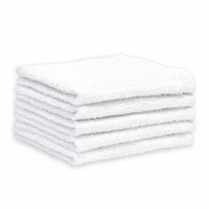 Cotton Bar Towels 14x16 Heavyweight White 48 Pack