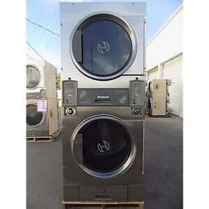 Huebsch Stack Dryer 30lb x2 Capacity Jt0300drg stainless Steel