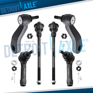 6pc Inner Outer Tie Rod Idler Arm Pitman Arm For Chevy Silverado 1500 4wd