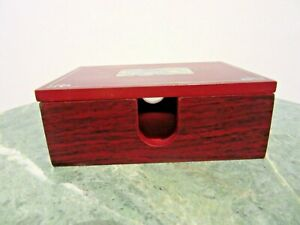Note Paper Memo Pad Box Holder With Removable Lid Mother Of Pearl Inlay