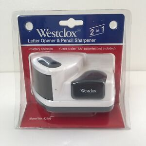 Westclox Letter Opener Pencil Sharpener Battery Operated 83109 New Sealed