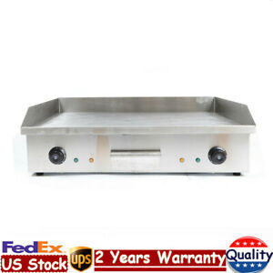 4400w Electric Food Griddle Grill Countertop Flat Bbq Grill Thermostatic Control