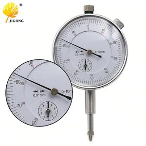 Dial Indicator Gauge 0 10mm Meter Precise 0 01 Resolution Concentricity Test