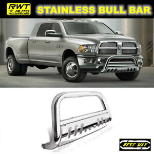 Fits 2009 2019 Dodge Ram 1500 Stainless Steel Bull Bar Brush Front Grille Guard