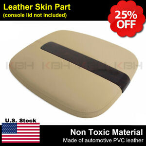 2007 2011 Cadillac Escalade Leather Center Console Lid Cover Armrest Beige Tan