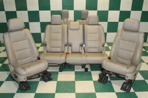 13 15 Explorer Stone Leather Power Heated Buckets 2nd 3rd Row Seat Set Bench Oem