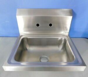 Stainless Steel 17 Commercial Prep Bar Wash Sink Wall Mount